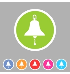 Ship bell marine nautical icon flat sign symbol vector