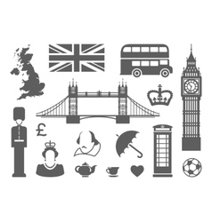 Symbols of england and london vector