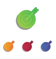 Target with dart colorfull applique icons set vector