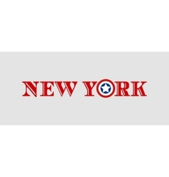 New york city name with flag colors vector