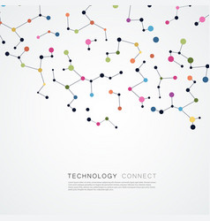 abtract background with connected line and dots vector image