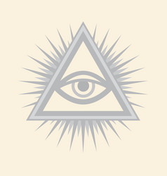 All-seeing eye the eye of providence vector