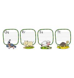 Animals alphabet or abc vector