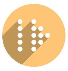 arrow sign led digital display circle icon vector image vector image