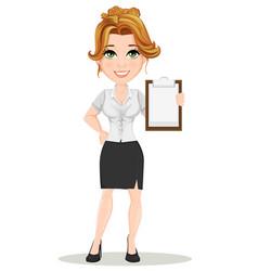 businesswoman 14 vector image vector image