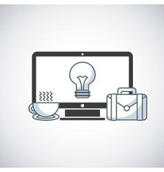 desktop computer technology icon vector image vector image