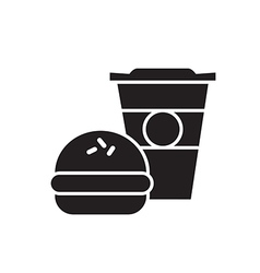 Fast Food Icon Silhouette vector image