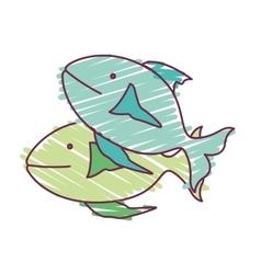Fish animal design vector