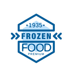 Frozen food premium since 1935 abstract label for vector