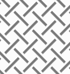 Geometrical pattern with gray beveled lines on vector