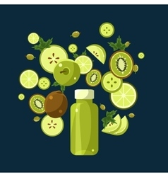 Green Smoothie Recipe of Ingredients vector image vector image