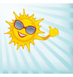 happy sun vector image vector image