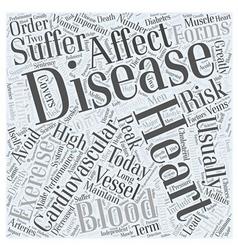 Heart disease today word cloud concept vector