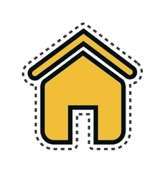 Home house isolated icon vector
