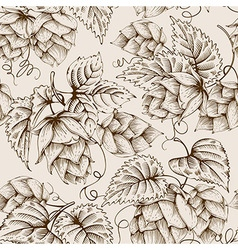 Hops graphic pattern vector image