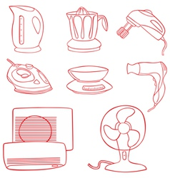 Household kitchen aplliance vector