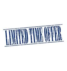 Limited time offer blue grunge vintage stamp vector