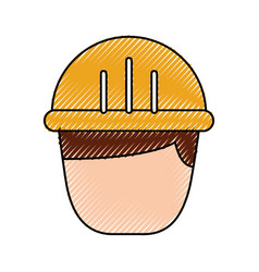 man worker cartoon people character head vector image