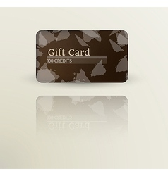 modern gift card template vector image vector image