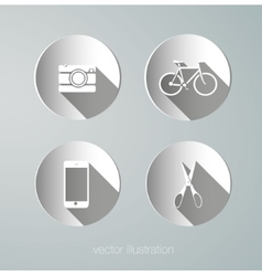 paper hipster icons vector image vector image