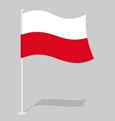 Poland flag official national symbol of polish vector