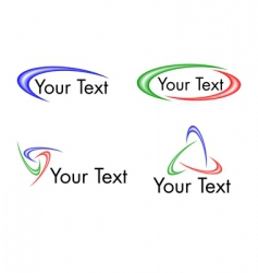swoosh logo designs vector image