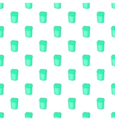 Turquoise trash can pattern cartoon style vector image