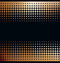 Two halftone borders on black background vector