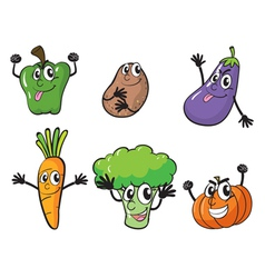 various vegetables vector image vector image