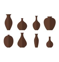 Vase icon set vector