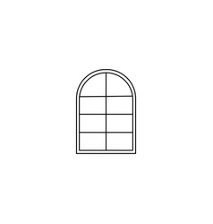 windows line icon vector image