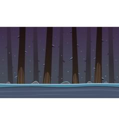 Winter forest game cartoon background vector