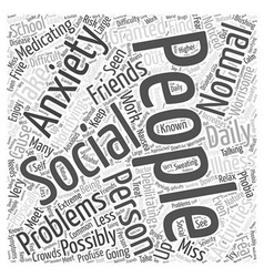 What is social anxiety word cloud concept vector