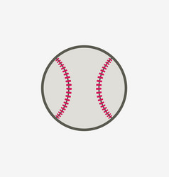 Baseball ball icon sport equipment vector