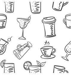 doodle of drink with coffee juice vector image