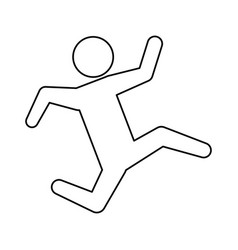 Line pictogram man silhouette running concept vector