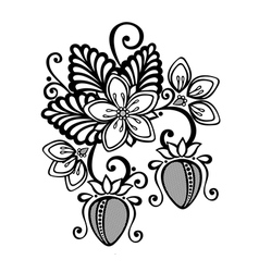 Decorative strawberry bush vector