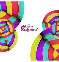 Abstract colorful rainbow curve background design vector