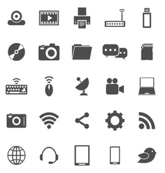 Hi tech icons on white background vector