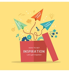 out of the box Inspiration concept vector image