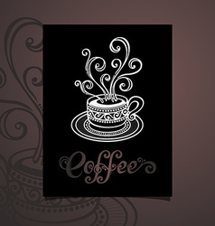 Cup of coffee design vector