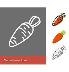 Carrot icons vector