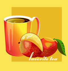 Favorite tea mango vector