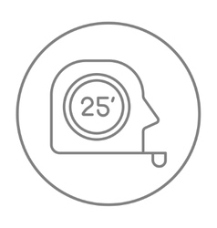 Tape measure line icon vector