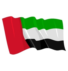 Political waving flag of united arab emirates vector