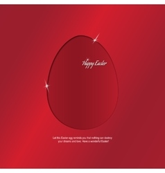 Egg a congratulation happy easter vector