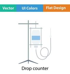 Drop counter icon vector
