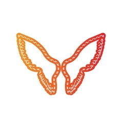 Wings sign  orange applique isolated vector