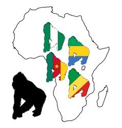 africa gorilla vector image
