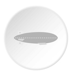 Airship icon circle vector